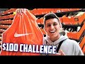 $100 NIKE OUTLET CHALLENGE! Cheap Sneaker Shopping!