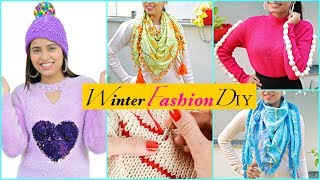 5 WINTER Fashion DIY For TEENAGERS | #College #Styling #Anaysa #DIYQueen
