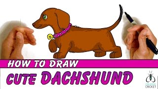 How to Draw a Dog Step by Step - Easy Art Lesson for Kids