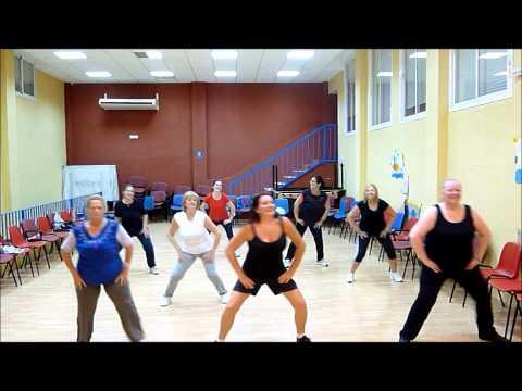 ZUMBA - Simple Warm Up - Calentamiento Fácil.  Jennifer Lopez ft  Pitbull - Dance Again