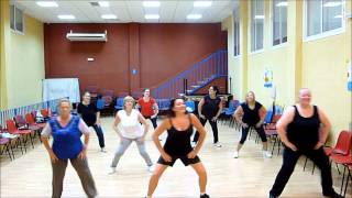 ZUMBA - Simple Warm Up - Calentamiento Fácil.  Jennifer Lopez ft  Pitbull - Dance Again