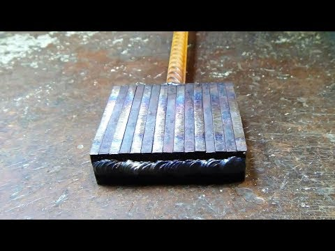 Wild Damascus steel.  Making a blade