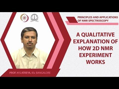 Lec22 A qualitative explanation of how 2D NMR experiment works