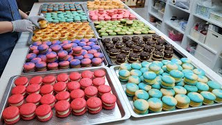 handmade make a variety of macaroons / 주3일 매주완판! 1,500원짜리 다양한 마카롱 / korean street food