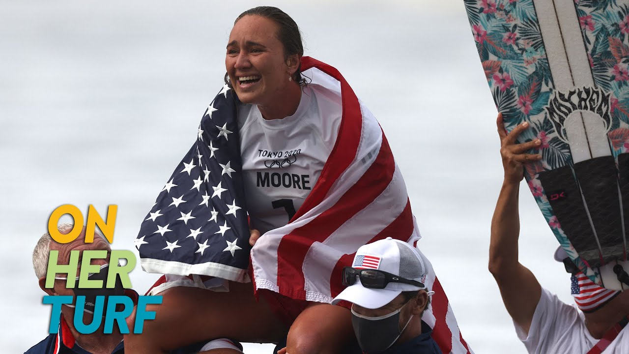 Carissa Moore discusses becoming first woman to ever win Olympic ...