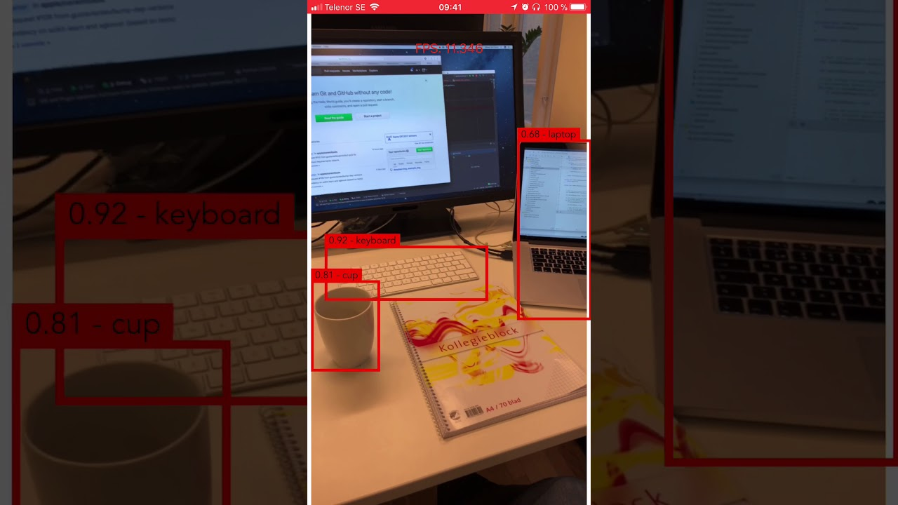 Real time object detection on iOS using CoreML