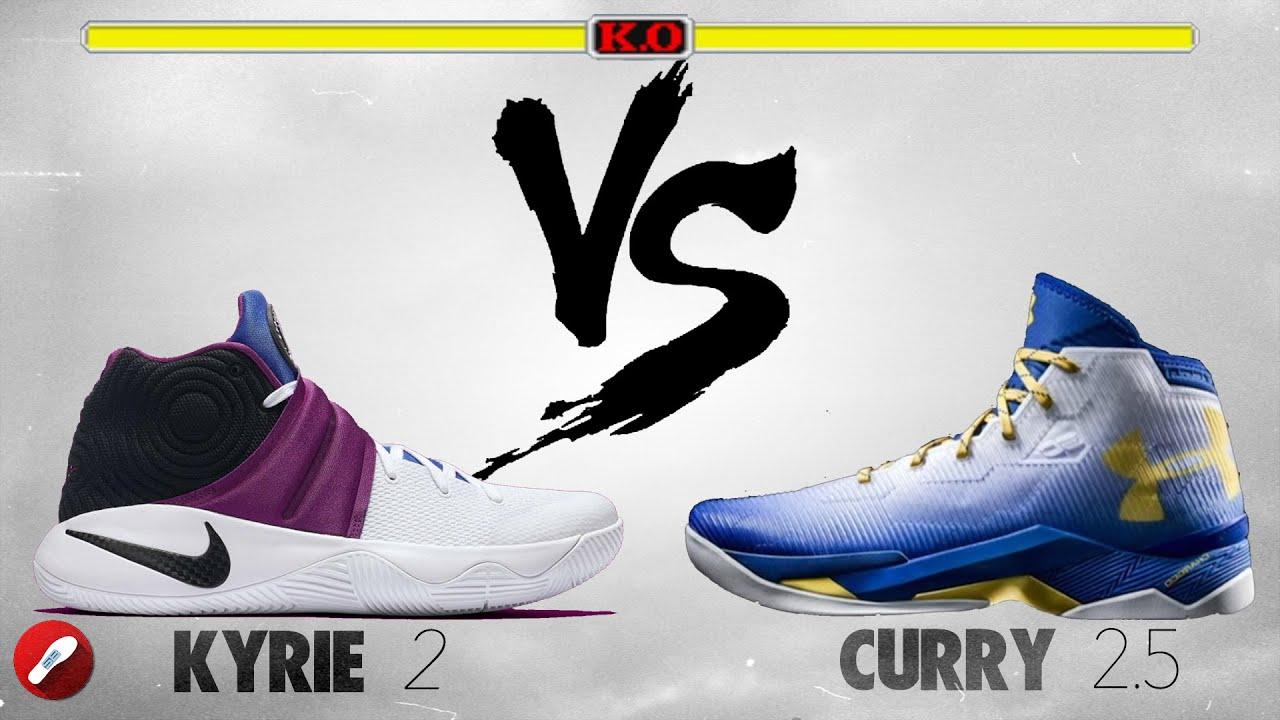 55cae7b188a6b Nike Kyrie 2 vs Under Armour Curry 2.5! ...