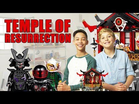 LEGO NINJAGO Temple of Resurrection Unboxing - The Build Zone