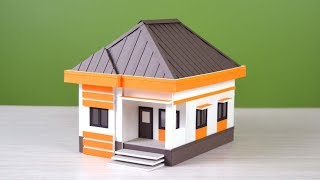 wow! how to make a beautiful house from foam board ( with dimensions)