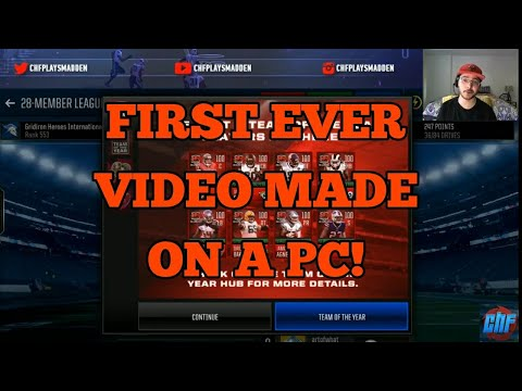CHF'S FIRST VIDEO MADE ON A PC!