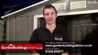 Billyoh Archer Metal Shed Including Foundation Kit