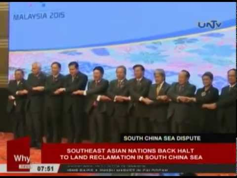 ASEAN members back halt to land reclamation in South China Sea