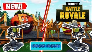 *NEW* PIZZA VS BURGER MODE + TURRETS in Fortnite: Battle Royale!