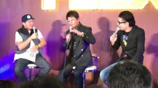 FLEXブースにて 哀川翔さんとヒロミさんのトーク.