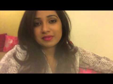 Shreya Ghoshal Singing Gehra Ishq & Wishing Shekhar Ravjiani