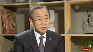 euronews interview - Пан Ги Мун: ''Проблема не в ООН, а в недостатке...