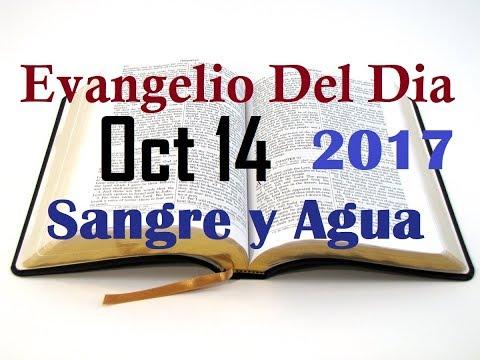 Evangelio del Dia- Sabado 14 Octubre 2017- Sangre y Agua