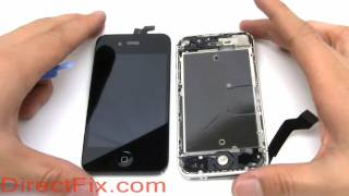 How To: Replace iPhone 4S Screen | DirectFix.com(Directions on replacing iphone 4s screen and iphone 4s screen repair. This will give you step by step free video directions on replacing a screen assembly, ..., 2011-10-14T21:27:25.000Z)