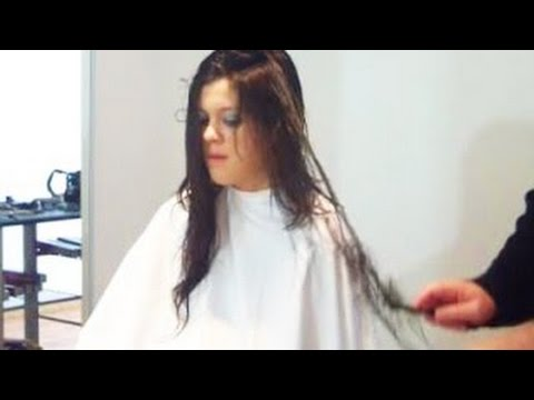Extreme Hair Makeover from Long Black Hair to Short Platinum by Jerome Lordet NYC