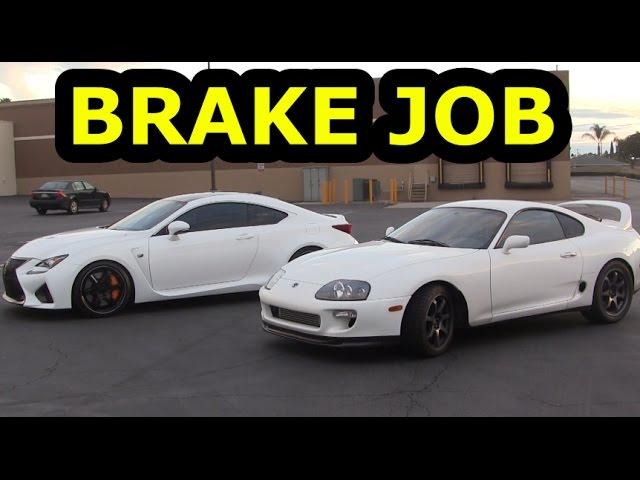 900Hp Toyota Supra Brake Job With Lexus Rcf
