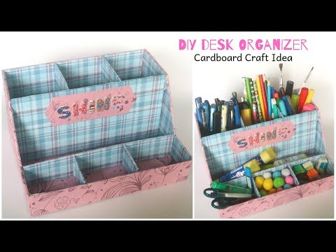 cardboard-crafts-easy-|-cardboard-organizer-ideas-|-diy-desk-organizer-|-back-to-school