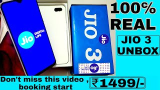 100% Real JIO PHONE 3 UNBOXING ||  book buy jio phone 3 || Launch date price - specification