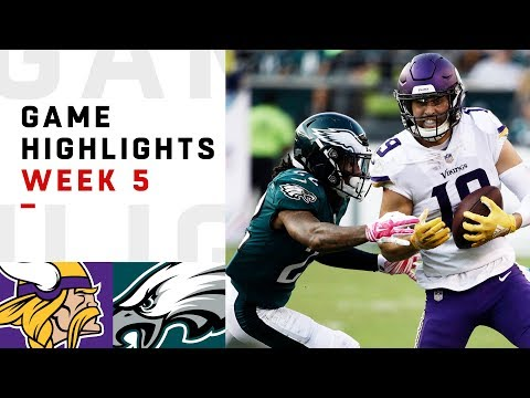 Vikings vs. Eagles Week 5 Highlights | NFL 2018