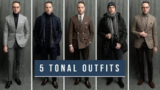 5 Tonal Outfits For Winter | Monochromatic Men's Fashion Trend