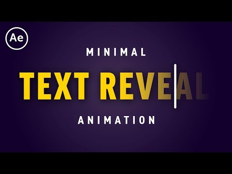Minimal Text Reveal Lower Third Animation | After Effects CC Tutorial
