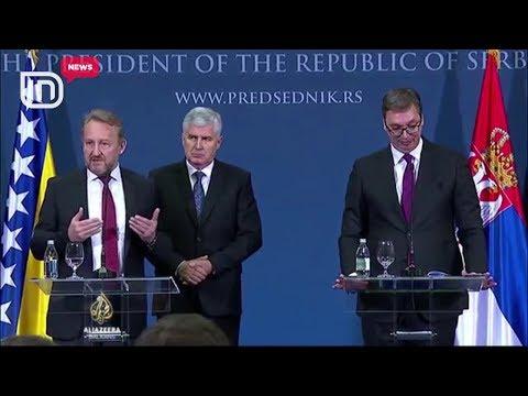 Përplasja për Kosovën në Beograd. Bakir Izetbegoviç sqaron presidentin serb Aleksandër Vuçiç