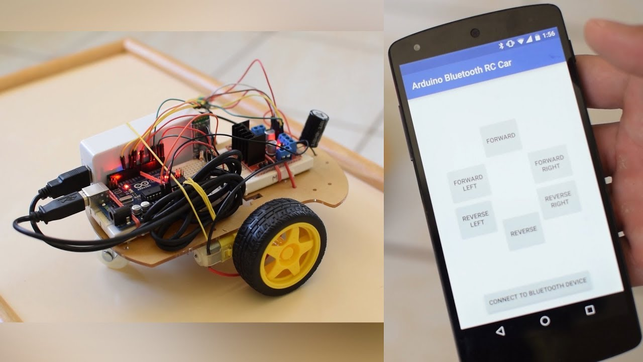 My Droid Robot controlled by App Inventor Explore