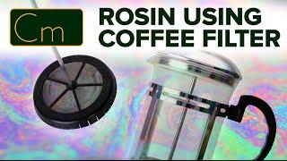 Hash Rosin using Coffee Filters