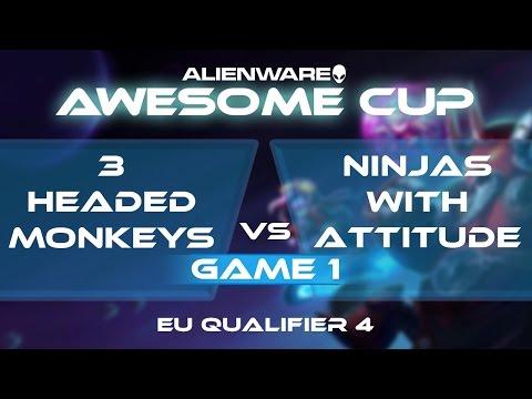3 Headed Monkeys vs Ninjas With Attitude - G1 - AAC2: EU Qua