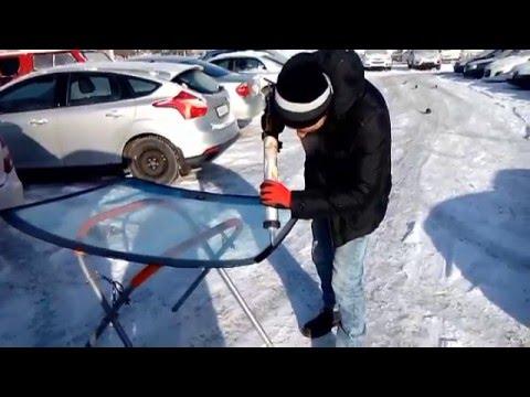 Установка лобового стекла на Chevrolet lacetti
