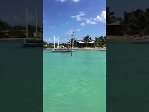 Secret Beach Belize - By boat