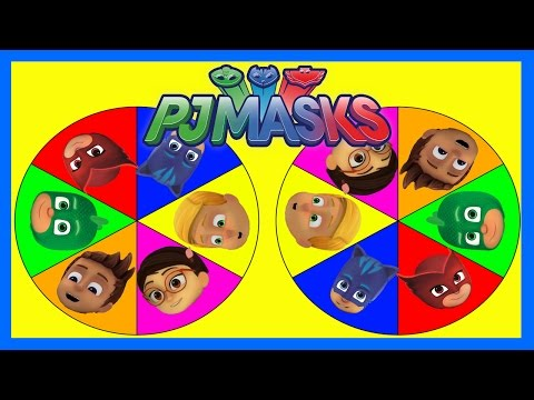 PJ Masks Game - Find Spiderman, Frozen Elsa, Paw Patrol, Peppa Pig and Spin the Wheel