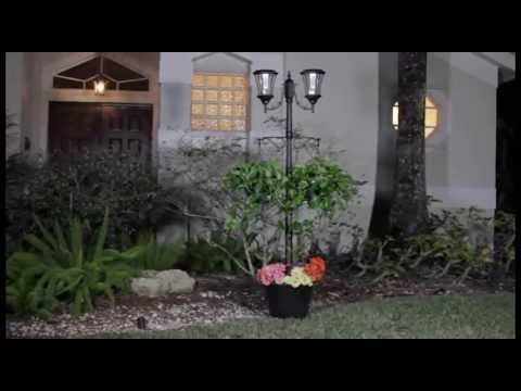 Martens Solar Lamp Post And Planter Youtube