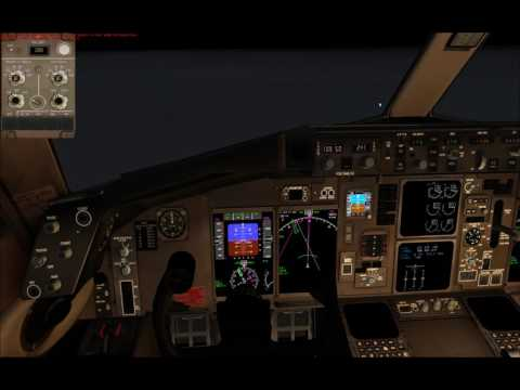 Dubai to Jordan App and Landing 757 Trump PART 2