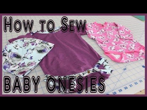 How To Sew BABY ONESIES