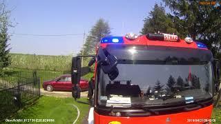 Pożar stodoły w Warpęsach