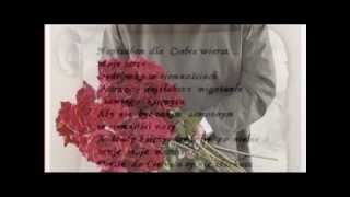 O tobie tysiąc róż i wiersz kochanie♥♥♫ ♫ ♫