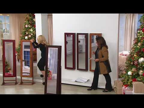 Gold & Silver Safekeeper Lighted Armoire by Lori Greiner on QVC