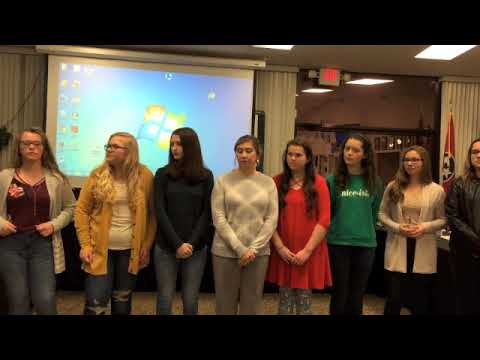 Surgoinsville Middle School Jr. Beta Club honored