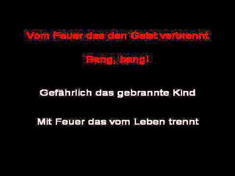 Rammstein - Feuer Frei! (instrumental with lyrics)