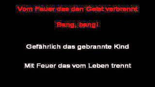 Rammstein - Feuer Frei! (instrumental with lyrics)