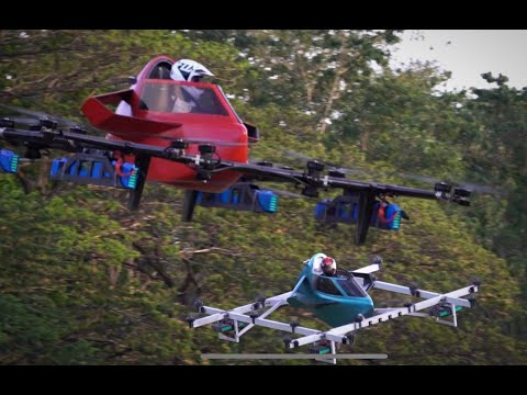 Worlds First Manned Drone Racing Flyingcar