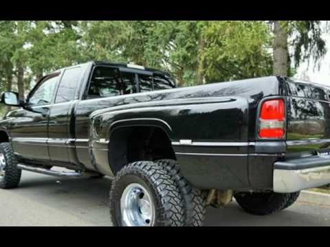 Lifted Ram 3500 >> 2001 Dodge Ram 3500 Dually 4x4 5.9L Cummins 5 Speed Manual. for sale in Milwaukie, OR - YouTube