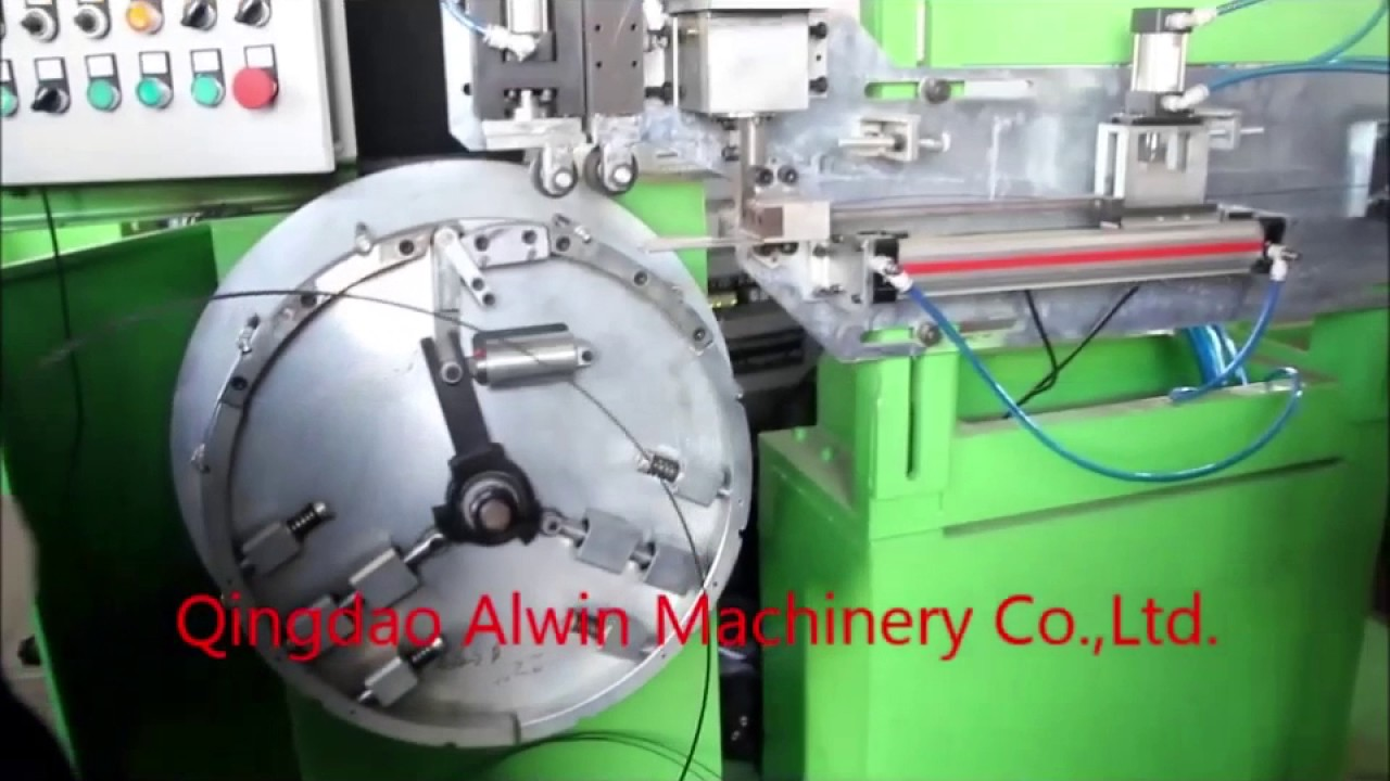 Bead wire winding machine test video awi youtube