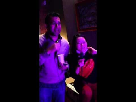 Navin and Monica karaoke jam in Sonoma