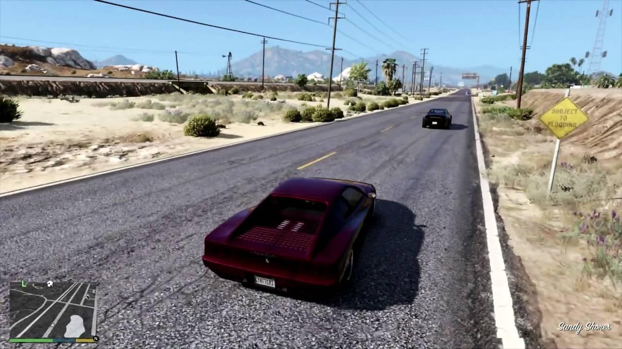 GTA V - L A  Roads mod - Replace road textures